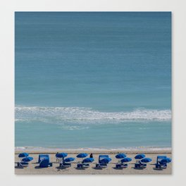 umbrella beach Canvas Print