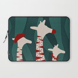 Giraffes Family Holiday Design Laptop Sleeve