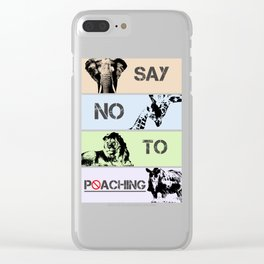 No poaching Clear iPhone Case