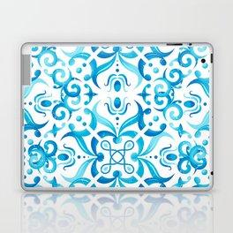 Traditional Seamless Mediterranean Ornament. Tile Pattern in Majolica Style Laptop & iPad Skin