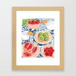 Summer Picnic Framed Art Print