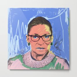 What Would RBG Do (6/6) Metal Print