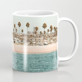 Vintage Newport Beach Print {1 of 4} | Photography Ocean Palm Trees Teal Tropical Summer Sky Coffee Mug