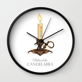 Behind the Candelabra - Alternative Movie Poster Wall Clock