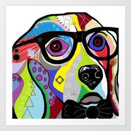 Sophisticated Beagle Art Print