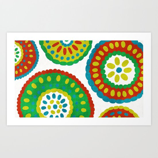 Dutch Medallions Art Print