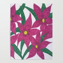 Ultra Violet Lily Bouquet Poster