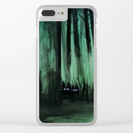 Psypuff forest 01 Clear iPhone Case