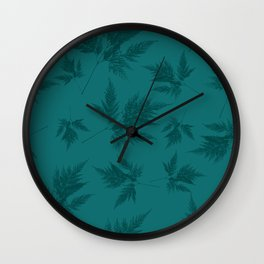 Fern blue Wall Clock