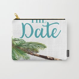 Save the Date hammock on a palm Carry-All Pouch