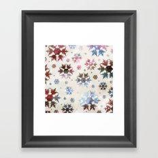 Star Snow Framed Art Print