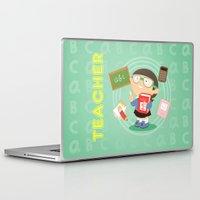 teacher Laptop & iPad Skins featuring teacher by Alapapaju