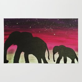 Elephant Sunset Rug