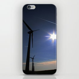 Windfarm and Blue Sky iPhone Skin