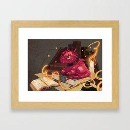The Dragon Library Framed Art Print