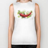 vietnam Biker Tanks featuring Vietnam Chilli by Vietnam T-shirt Project