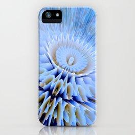 Blue 3D essence of a mandala iPhone Case