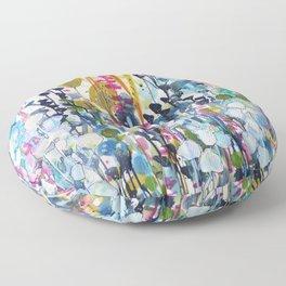 colorful sidero Floor Pillow