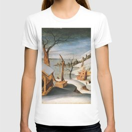 Abel Grimmer, Flemish, active 1592-1619 Winter Landscape with the Angel Appearing to Saint Jos T-shirt