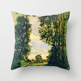 Walk, Road of the Farm Saint-Simeon - Digital Remastered Edition Throw Pillow