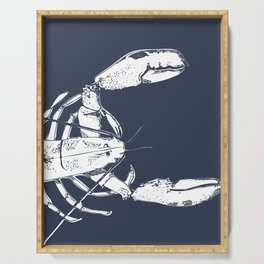 Lobster in Blue Serving Tray