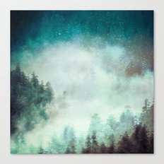 Galaxy Forest Canvas Print
