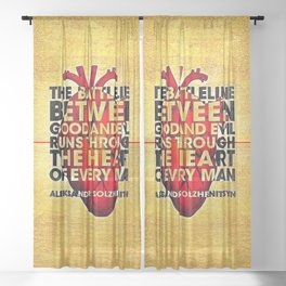 The Battleline Sheer Curtain