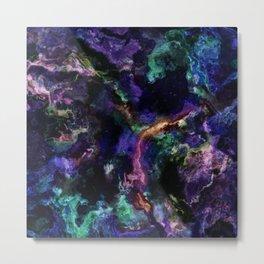 ultra violet marble x Metal Print