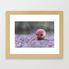 Snow white bad apple Framed Art Print