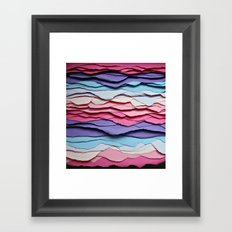 Colour waves Framed Art Print