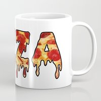 pizza Mugs featuring Pizza... by radoverlays