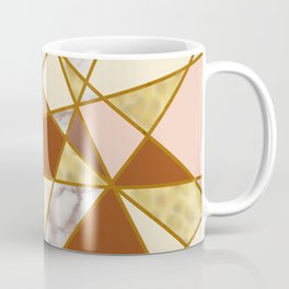 Geometric Pattern with Marble and Gold effect Coffee Mug