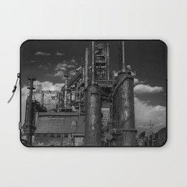 Black and White Bethlehem Steel Blast Furnaces Laptop Sleeve
