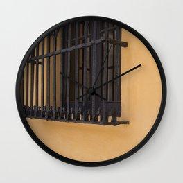 Orange Wall Wall Clock
