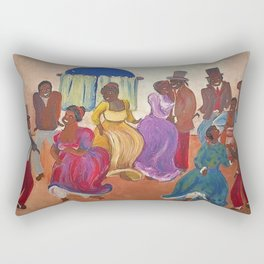 African American Masterpiece 'Candombe - A Homecoming' by Pedro Figari Solari Rectangular Pillow