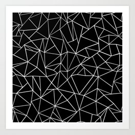 Abstraction Outline Black and White Art Print