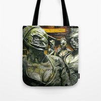 silent hill Tote Bags featuring Silent Hill by Sprite Ideas