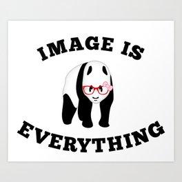 Panda Hipster Art Print