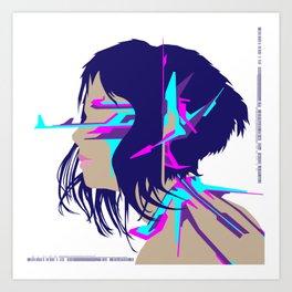 Cyberpunk Girl #2 Art Print