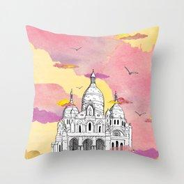 Sacré Coeur - Paris Throw Pillow