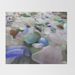 Sea Glass Assortment 6 Throw Blanket