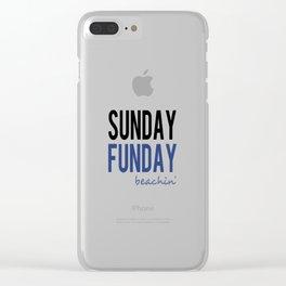 Sunday Funday Beachin' Clear iPhone Case