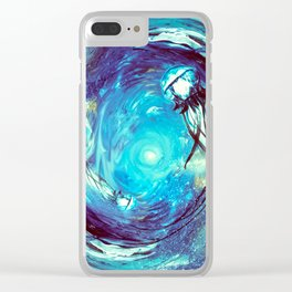 Twin Flame // Jellyfish Art // Jellyfish Painting Clear iPhone Case