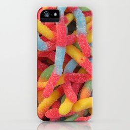 Sour Gummy Worms iPhone Case
