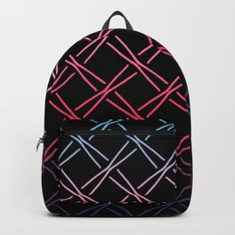 Fences Abstract Ombre Backpack