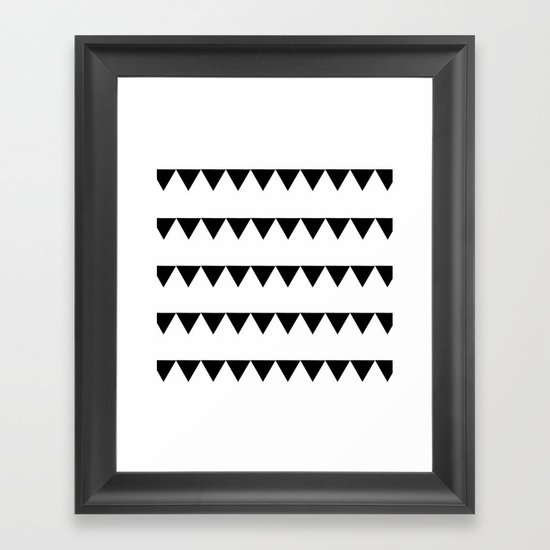 TRIANGLE BANNERS (Black) Framed Art Print