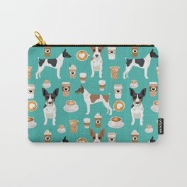 Rat Terrier coffee dog breed pet portrait dog pattern dog breeds gifts for dog lovers Carry-All Pouch