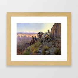 """""""When Shadows Hint Death"""" by Charles M Russell Framed Art Print"""