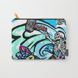 Wipe out! Gnarly surfing skeleton Carry-All Pouch
