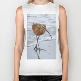 Long Billed Curlew Biker Tank